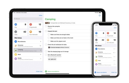 Cómo ordenar los elementos de las listas de Recordatorios en nuestro iPhone, iPad o Mac