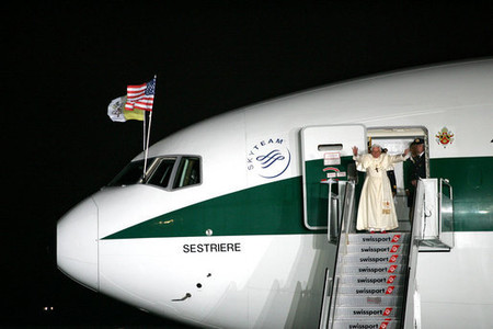 Pope Benedict Xvi Waves Goodbye As He Departs