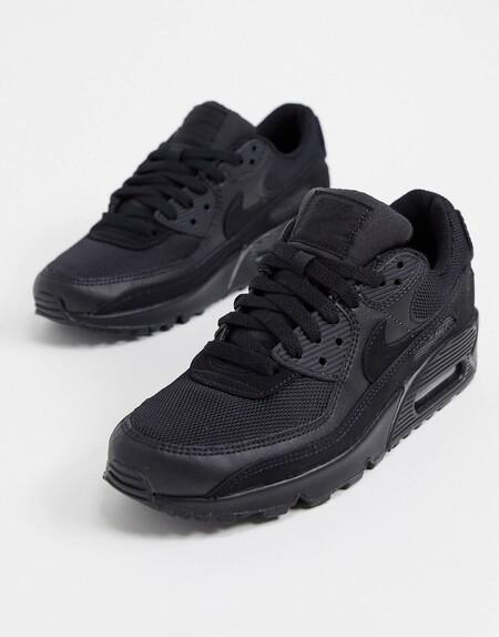 Zapatillas En Triple Negro Air Max 90 De Nike