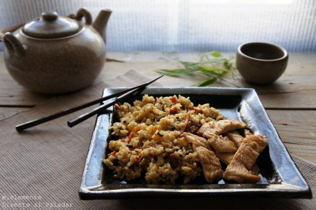 Pechuga de pollo al horno con jengibre y miel