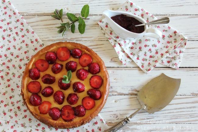 Pastel de mascarpone y fresa