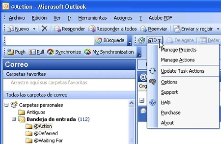 GTD Outlook Add-In, complemento GTD para Outlook
