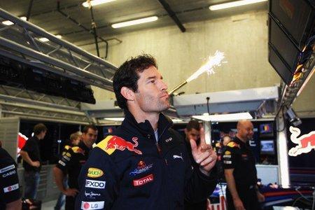 GP de Bélgica de Fórmula 1: Pole para Mark Webber en una caótica sesión con lluvia intermitente
