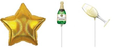 Globo Estrella 45cm Oro Deslumbrante Foil A112272902