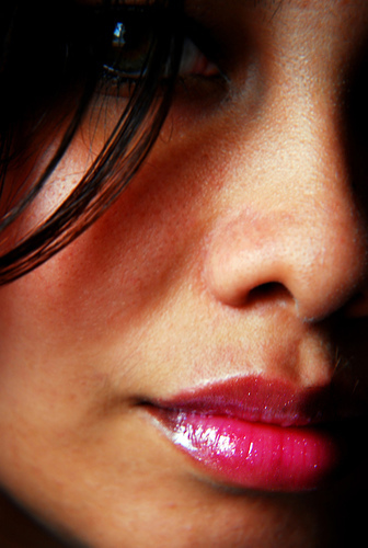 Labios color fucsia