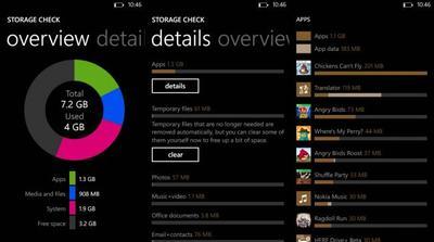 Nueva aplicación llamada Storage Check aparece en los Nokia Lumia 620