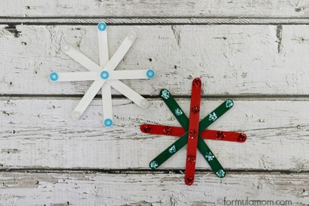 Craft Stick Snowflakes Crafts