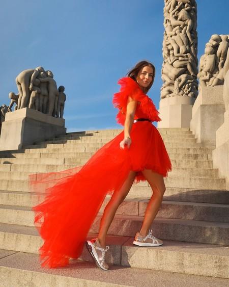 Giambattista Valli Hm Red Dress Tulle 08