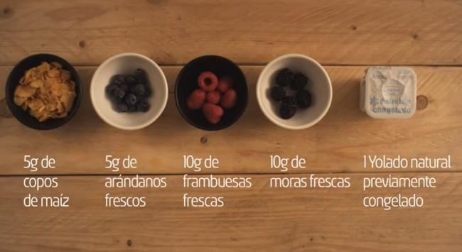 ingredientes yolado del bosque