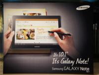Samsung Galaxy Note 10.1 es oficial y se deja ver en anuncios
