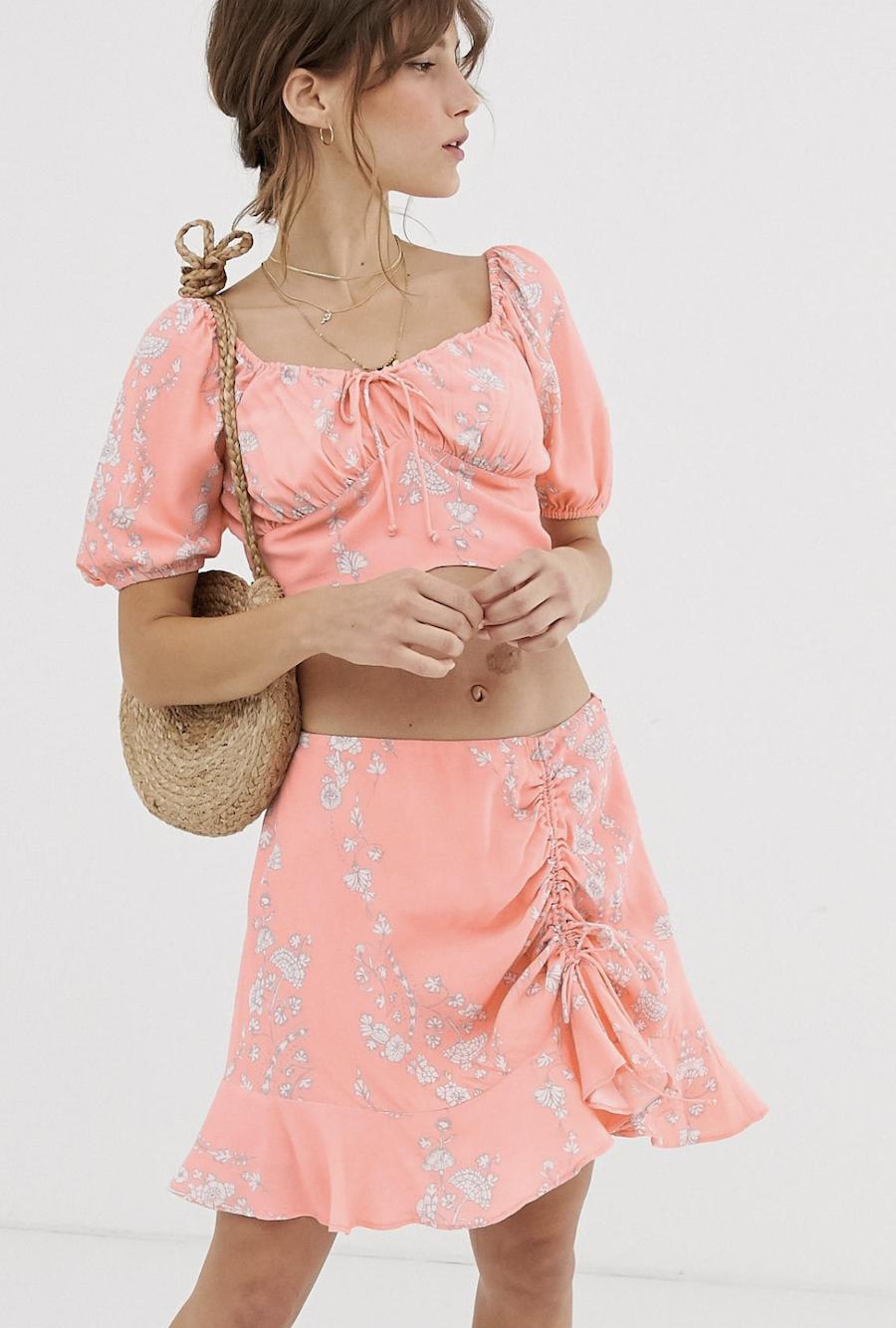 Minifalda de flores Eve de Cleobella