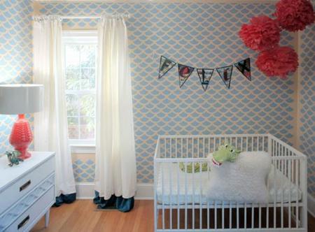 La habitación del bebé inspirada en los cómics de Tintin