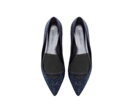 zapato brillos punta zara