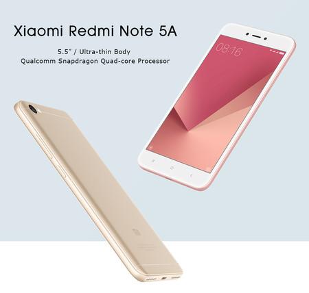 Más barato todavía: Xiaomi Redmi Note 5A, en versión global, por 83,89 euros y envío gratis desde España