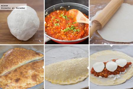 Pizza calzone lasaña - elaboración