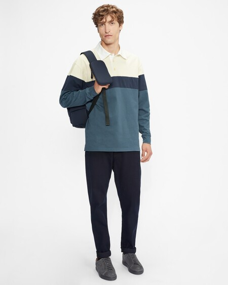 Colour Blocked Rugby Top
