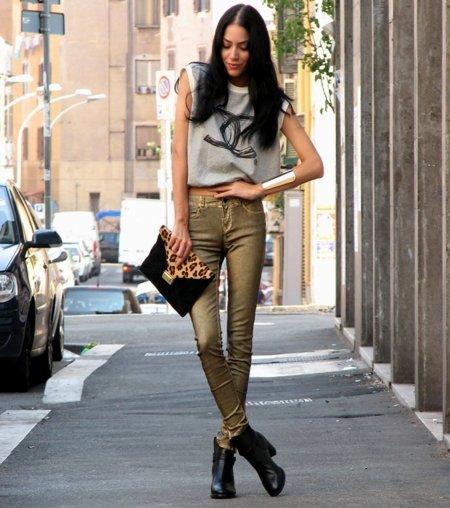 Jeans dorados