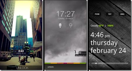WidgetLocker Screens