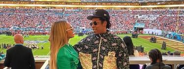 Beyoncé se marca un lookazo de diva apostando todo al verde para ir al estadio de la Super Bowl 2020