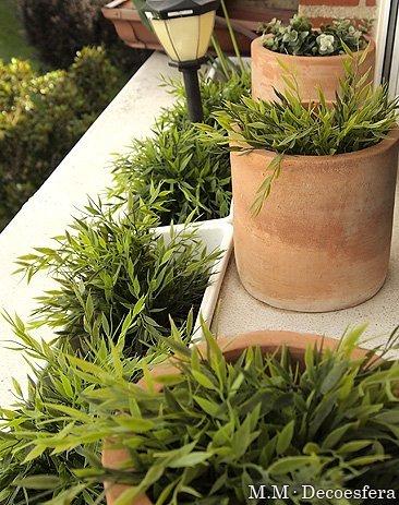 Una buena idea utilizar plantas artificiales de exterior Plantas jardineras exterior