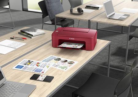 Impresora Multifuncion Canon Pixma Ts3352 En Color Rojo