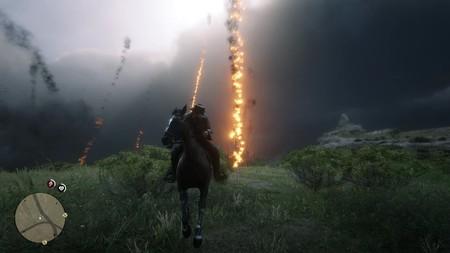 Red Dead Redemption 2 aún más loco: puedes convertir a Arthur en un sádico Superman y sobrevivir a una lluvia de meteoritos
