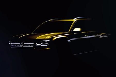 Volkswagen nos enseña en este teaser al nuevo Atlas, pero sólo lo justo
