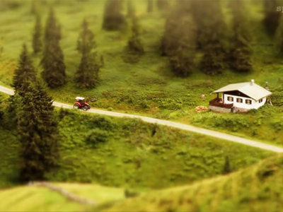 Los Alpes austriacos como si fueran de miniatura en un hipnótico timelapse