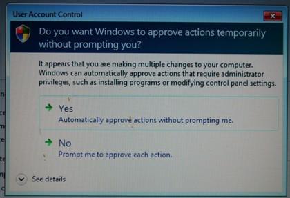 Control de Cuentas de Usuario en Windows 7