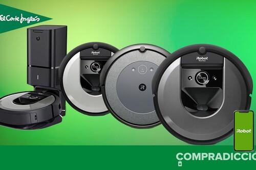 Descuentos Top en El Corte Inglés: 8 robots aspiradores Roomba que puedes encontrar más baratos hoy