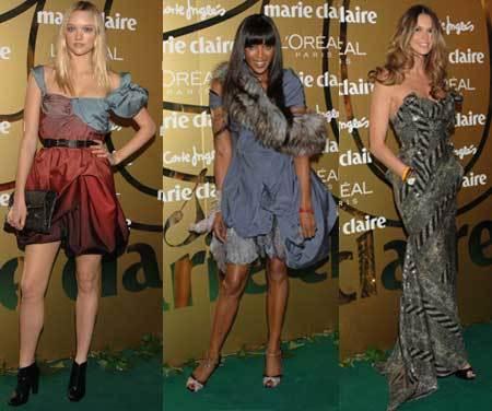 Las modelos en la fiesta de Marie Claire