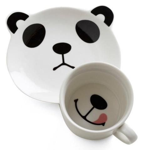 Un panda sonriente para desayunar, por favor