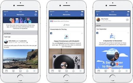 Facebook lanza una nueva sección de 'Recuerdos' que nos muestra fotos y publicaciones antiguas