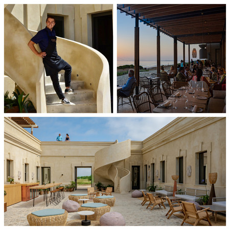 El Chef Manuel Berganza La Terraza Exterior Con Vistas Sobre La Barrosa Y La Vista Interior Para Un Ambiente Mas Chill Out Aperitivos Y Noche