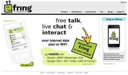 Fring, comunicación móvil por los cuatro costados