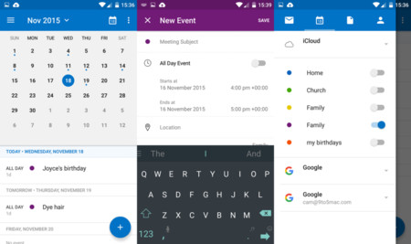 Outlook 2 Calendar Android
