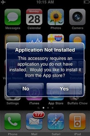 Integración de las aplicaciones del iPhone con accesorios externos