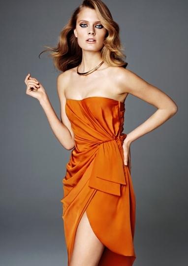 vestido naranja H&M 2012