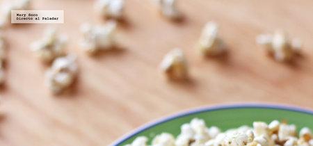 Palomitas de maíz con finas hierbas y queso parmesano. Receta