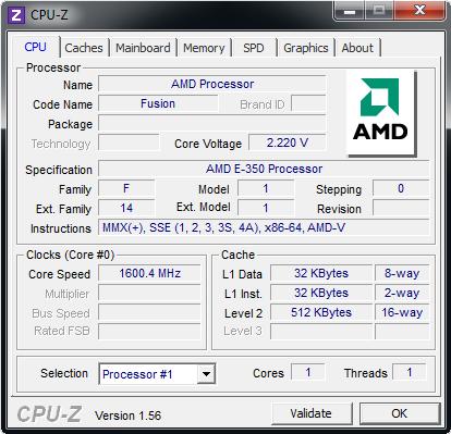 AMD Fusion CPUZ