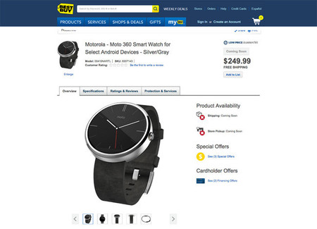 Moto 360 en eBay