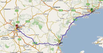 Cambiar los recorridos con Google Maps