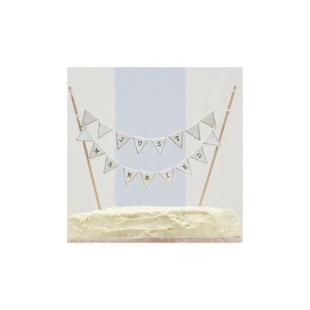 banderines tarta just married