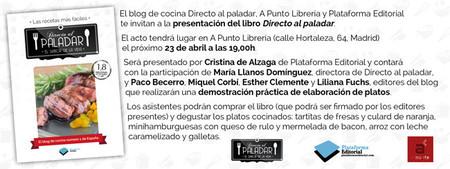 ¡Apunta la fecha! El miércoles 23 de abril presentamos el libro de Directo al Paladar en la librería A Punto de Madrid