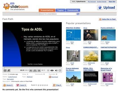 SlideBoom, nuevo servicio de almacenamiento online de presentaciones PowerPoint