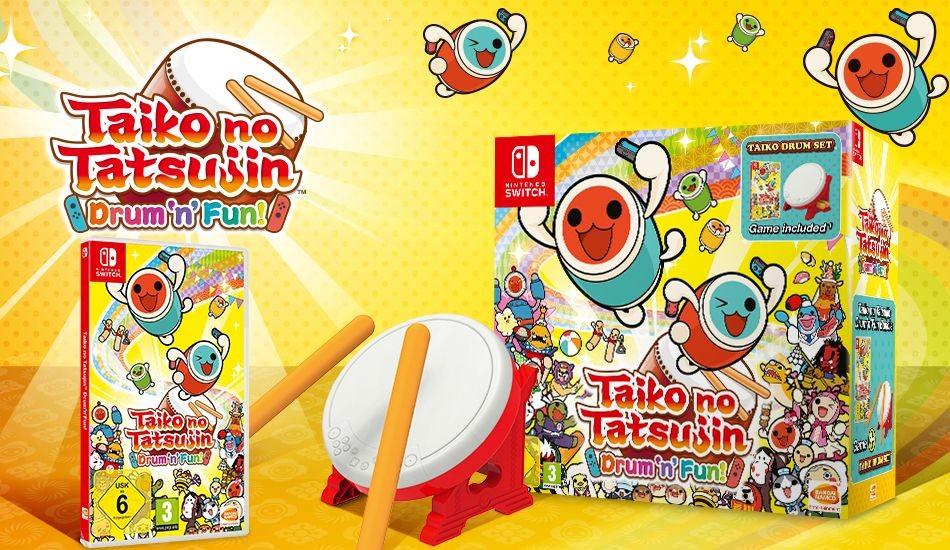 La edición de coleccionista de Taiko no Tatsujin: Drum 'n' Fun  llegará a Europa. Y sí, incluye el tambor