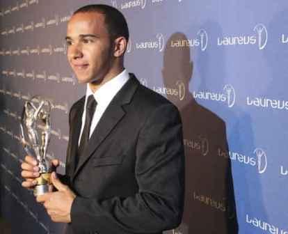 Lewis Hamilton, premio Laureus al mejor debutante