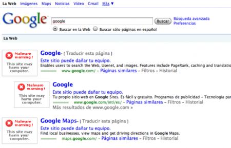 Extraño bug masivo en Google