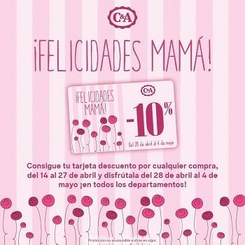 C&A también celebra el Día de la Madre con tarjetas descuento de un 10 %