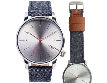 Komono Winston Chambray, el reloj de pulsera como complemento de moda